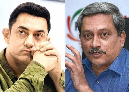 manohar parrikar comment over aamir khan