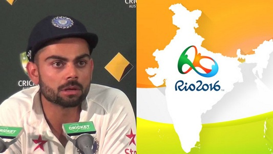 Kohli came down on criticism of the Indian players in the Olympics and the