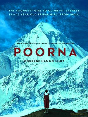 launched-her films 'poorna' poster at 9 thousand feet