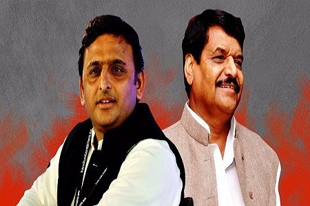 mulayam between akhilesh and shivpal conflict