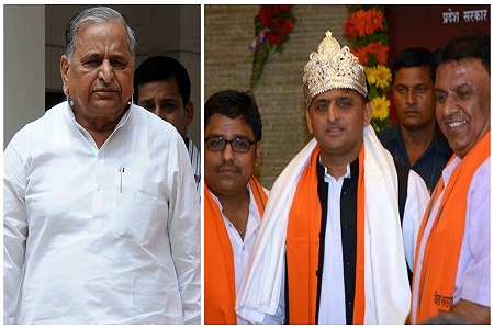 mulayam blessing with akhilesh yadav