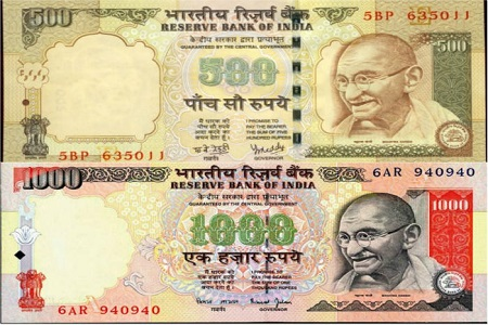 500-1000 note ban issue