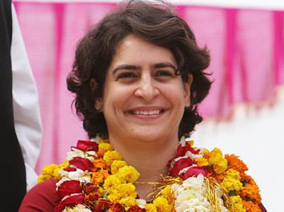 priyanka gandhi in field for congress election campaign