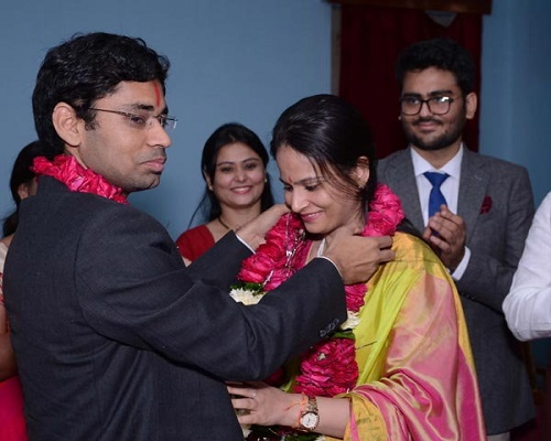 IAS couple married