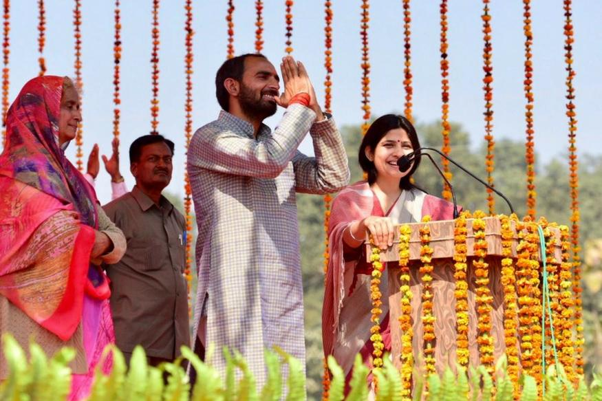 gonda-news-now-samajwadi-party-mp-dimple-yadav-tells-the-meaning-of-kasab-in-gonda-rally