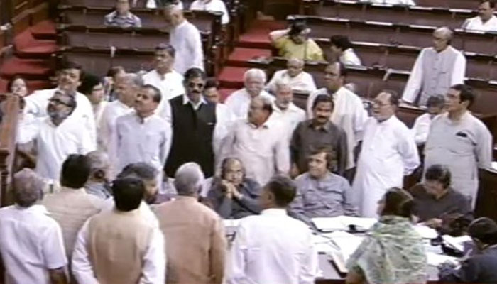 rajya-sabha-adjourned-after-opposition-raised-slogan-protesting-over-evm-issue
