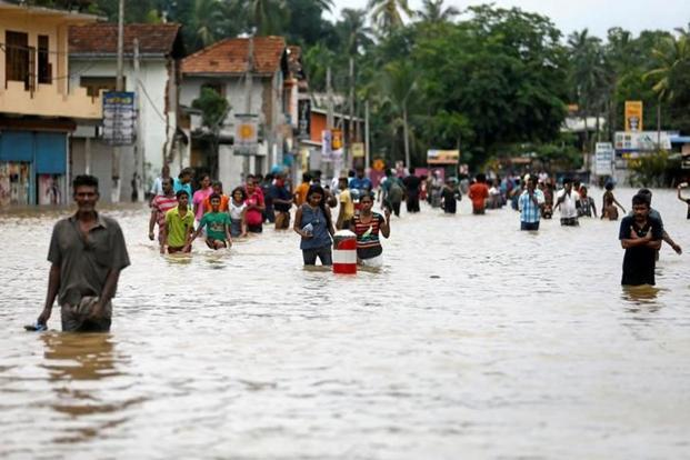 90 people die due to heavy flooding and landslide in Sri Lanka