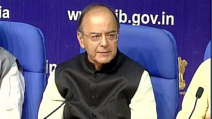 finance-minister-addresses-press-conference-on-modi-government-3-years