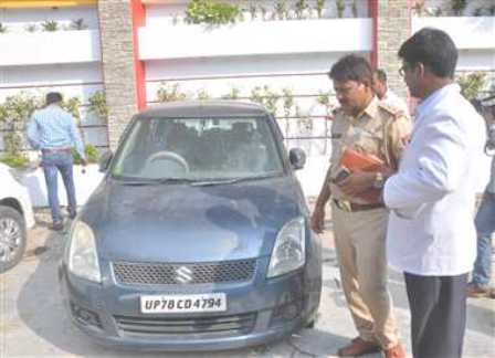 Lucknow Hassanganj Innocent rape killed in car