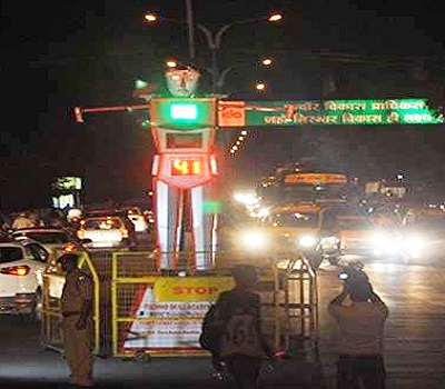 Took traffic system by the robots in Madhya Pradesh, USP