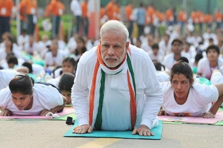 PM Yoga with going to rehearsals of two young men road accident death