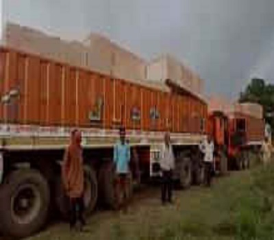 3 trucks reaching Ayodhya by taking stones for temple construction in Vigyan Hindu Parishad's supervision
