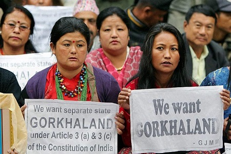 gorkhaland disturbance in west bengal