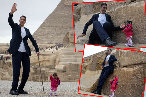 world-tallest-man-and-world-shortest-woman-meet-in-egypt