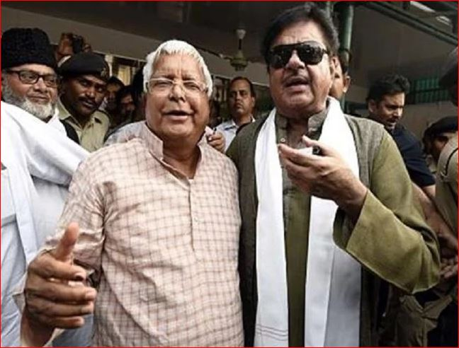 BJP leader Shatrughan Sinha meets after Laloo Yadav's verdict arrives