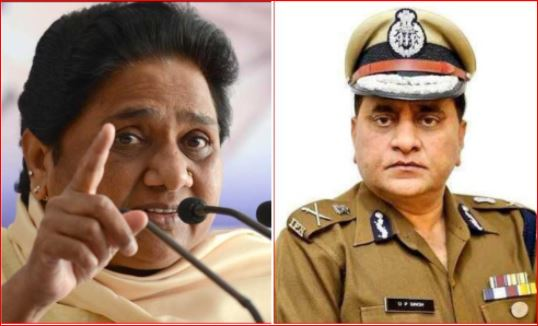mayawati alligation over bjp on dgp